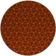 rug #752937   round red-orange geometry rug