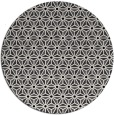 rug #752953 | round black rug
