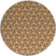 rug #753029   round light-orange rug