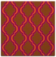 rug #755409 | square red-orange traditional rug