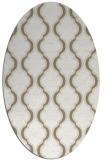 rug #755497 | oval white traditional rug