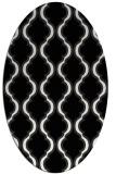 rug #755501   oval black rug