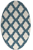 rug #755521 | oval white traditional rug