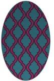 rug #755561 | oval pink popular rug