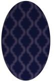 rug #755581 | oval blue-violet traditional rug