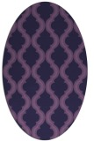 rug #755593 | oval purple traditional rug