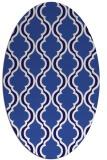 rug #755601 | oval blue-violet traditional rug