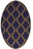 rug #755605 | oval blue-violet rug