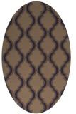 rug #755606 | oval traditional rug