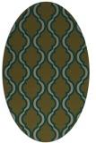 rug #755617   oval mid-brown rug
