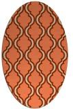 rug #755693 | oval orange rug