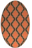 rug #755697 | oval orange traditional rug