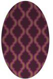 rug #755725 | oval green traditional rug