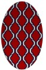 rug #755737 | oval red traditional rug