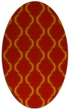 rug #755741 | oval red traditional rug