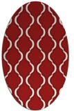 rug #755745 | oval red traditional rug