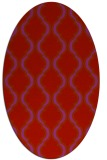 rug #755749 | oval red traditional rug