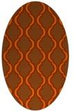 rug #755755 | oval traditional rug