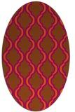 rug #755761   oval red-orange traditional rug