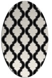 rug #755769 | oval black traditional rug
