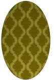 rug #755817 | oval light-green popular rug