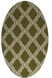 rug #755829 | oval light-green rug