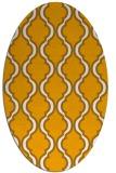 rug #755833 | oval light-orange traditional rug