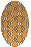 rug #755845 | oval white rug