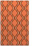rug #756045 |  orange popular rug
