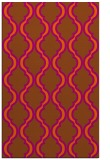 rug #756113 |  red-orange traditional rug