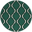 rug #756333 | round blue-green traditional rug