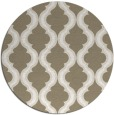 rug #756341 | round mid-brown traditional rug