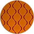rug #756389 | round orange traditional rug