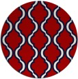 rug #756441 | round red traditional rug