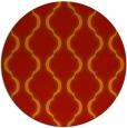 rug #756445 | round orange traditional rug
