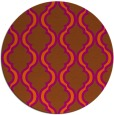 rug #756465 | round red-orange traditional rug