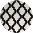 rug #756473 | round black traditional rug