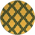 rug #756505 | round yellow traditional rug