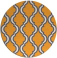 rug #756549   round light-orange traditional rug