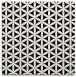 rug #756909 | square white geometry rug