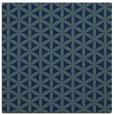 rug #756937 | square blue circles rug