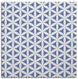 rug #756945 | square blue geometry rug