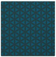 rug #756985 | square blue circles rug