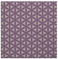 rug #757085 | square purple circles rug