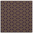 rug #757137 | square mid-brown circles rug