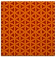rug #757149 | square orange circles rug