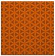 rug #757169 | square red-orange circles rug
