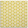 rug #757205   square yellow circles rug