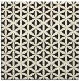 rug #757213 | square black circles rug