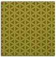 rug #757225 | square light-green circles rug
